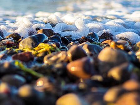 Kieselsteine in Ostsee-Brandung - Angebote Ostsee Urlaub | Hotel Osteeland